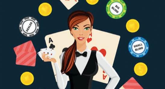 Le bouton de poker