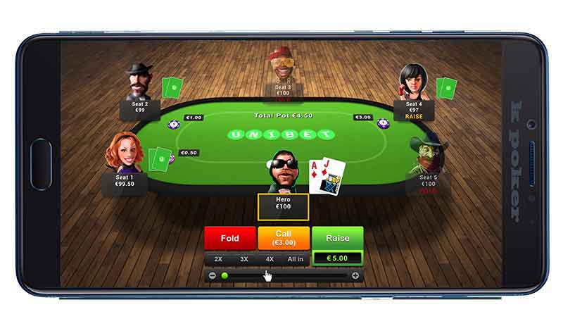 application mobile de poker