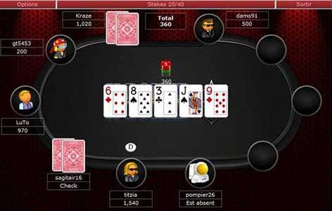 Jouer sur les tables de poker