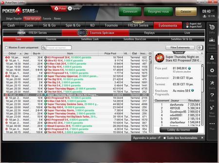 le lobby pokerstar