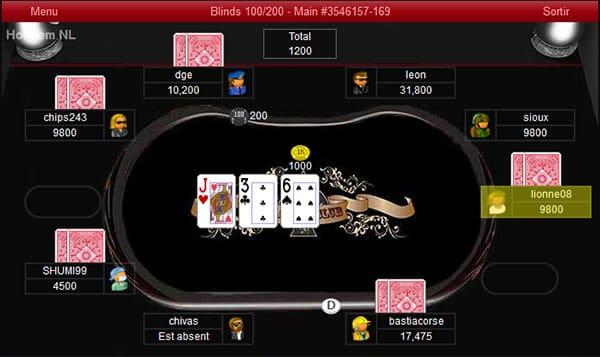 Les nouvelles tables de poker gratuit sur K poker