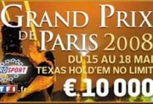Tournois 2008 de poker à Paris